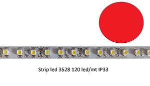 BOBINA-STRISCIA-5MT-STRIP-600-LED-120-LED-MT-3528-ROSSO-RED-620-630NM-12V-IP20