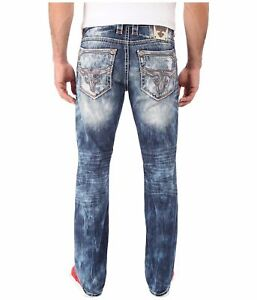 a05b8f9295e Image is loading ROCK-REVIVAL-JEANS-Flann-Alternative-Low-Slim-Straight-