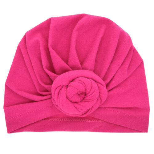 Kids Girl Baby Toddler Knotted Cotton Turban Headband Hair Bow Band Accessories