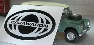 Land Rover Carawagon Caravana Serie 2a 3 Pegatina Etiqueta Pegatina