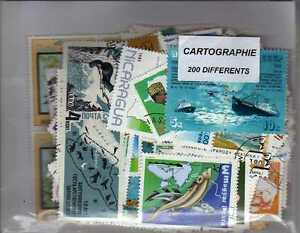 Cartographie 200 Timbres Différents
