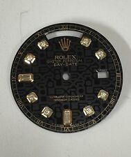 Rolex Men's Day-Date Quickset Black Jubilee Custom 8+2 Diamond Dial 2-T