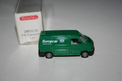 embalaje original 2950120 Volkswagen VW Transporter Europcar vit2 Wiking 1:87