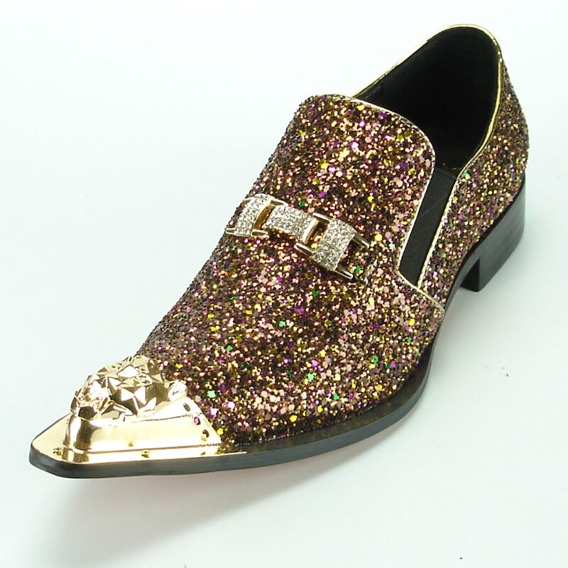 FI-7072 pink Glitter with gold Ornament and Metal Tip Fiesso by Aurelio Garcia