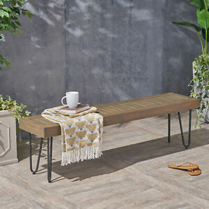 Pleasant Details About Union Rustic Outdoor Wooden Picnic Bench Inzonedesignstudio Interior Chair Design Inzonedesignstudiocom