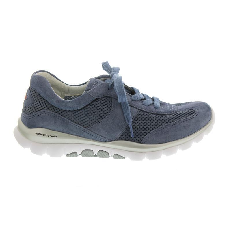 Gabor Rollingsoft, Sneaker, Mesh   Dreamvelour, nautic, Wechselfußbett 26.966.26