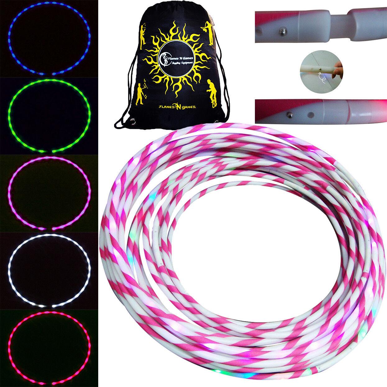 . LED a stella Glow Hula HoopColoreeee LED canestro con impugnatura in silicone  BAG