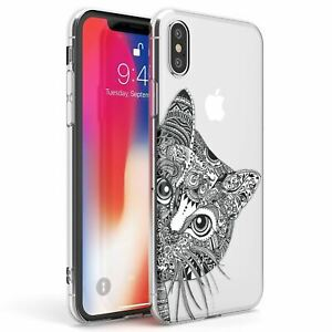 Details About Henna Cat Design Slim Phone Case For Iphone Cute Kitten Gift Meow Pet