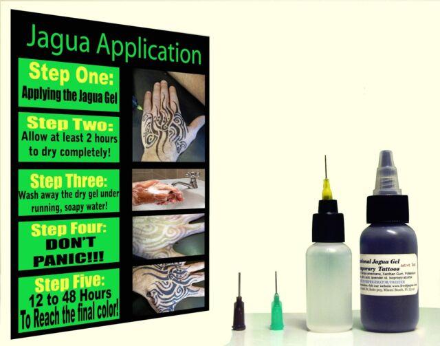 Fresh Jagua® Tattoo ink Gel 1oz (29.5ml) ***TOP GRADE PROFESSIONAL MADE IN U.S.A