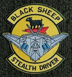 AIR FORCE BLACK SHEEP STEALTH DRIVER PILOT MILITARY USAF collectors PATCH
