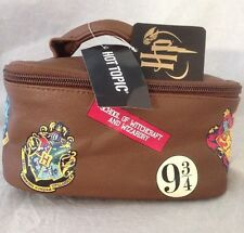 Harry Potter Brown School Luggage Train Case Travel Tote Cosmetic Bag
