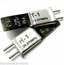 27mhz FM Transmitter and Radio RC Crystal Set 27 mhz 26.975 TX & RX Black Ch 1