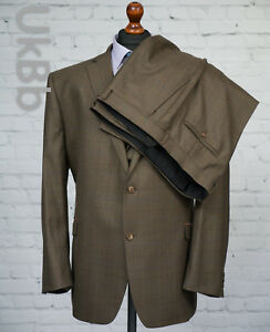 Fellini 31 Tailored 5l delige 52r Check Bruin 48w Suit 3 Single Tweed Breasted MqSzVUGLp