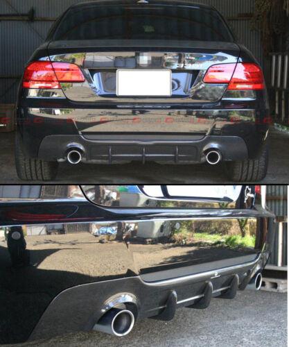 DUAL EXHAUST CARBON FIBER REAR DIFFUSER FOR 2007-13 BMW E92 E93 W// M-TECH BUMPER