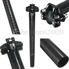 Carbon Fiber MTB Road Mountain Bike Bicycle Cycling Seatpost 27.2/30.8/31.6mm