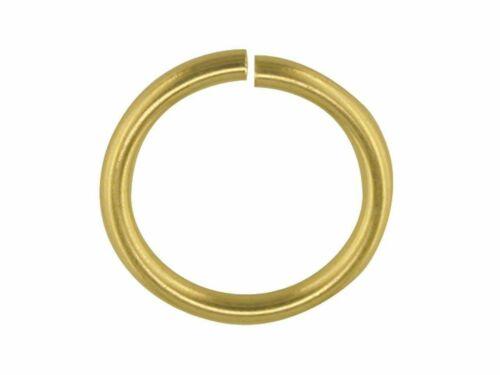 375 9ct Oro Amarillo 7 mm salto anillo anillo abierto o Anillo Joyería Sujetador Crafts