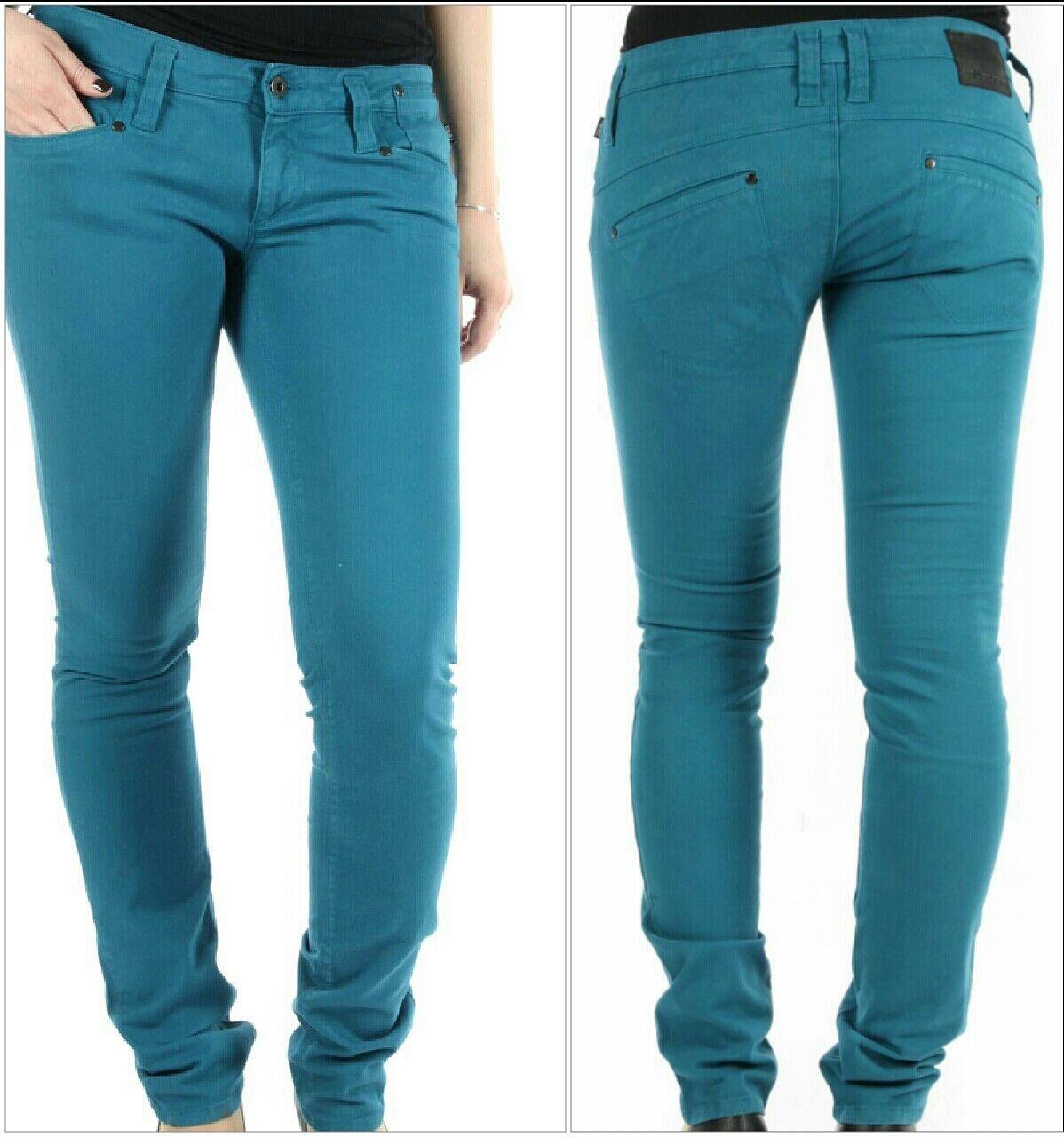 NEUF Pantalon NIKITA Isobel Damen Jeans Hose W27L32 Blau pétrole skinny original