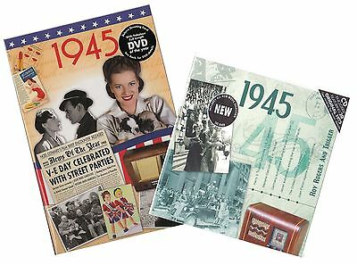 73rd Anniversary or Birthday gifts CD & DVD ~ Revisit the Music & News of 1945