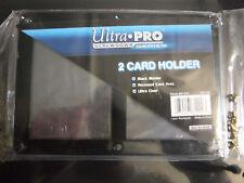 2x New Ultra Pro 2 Card 4 Screw Black Border Card Holder Screwdown Ultra Clear
