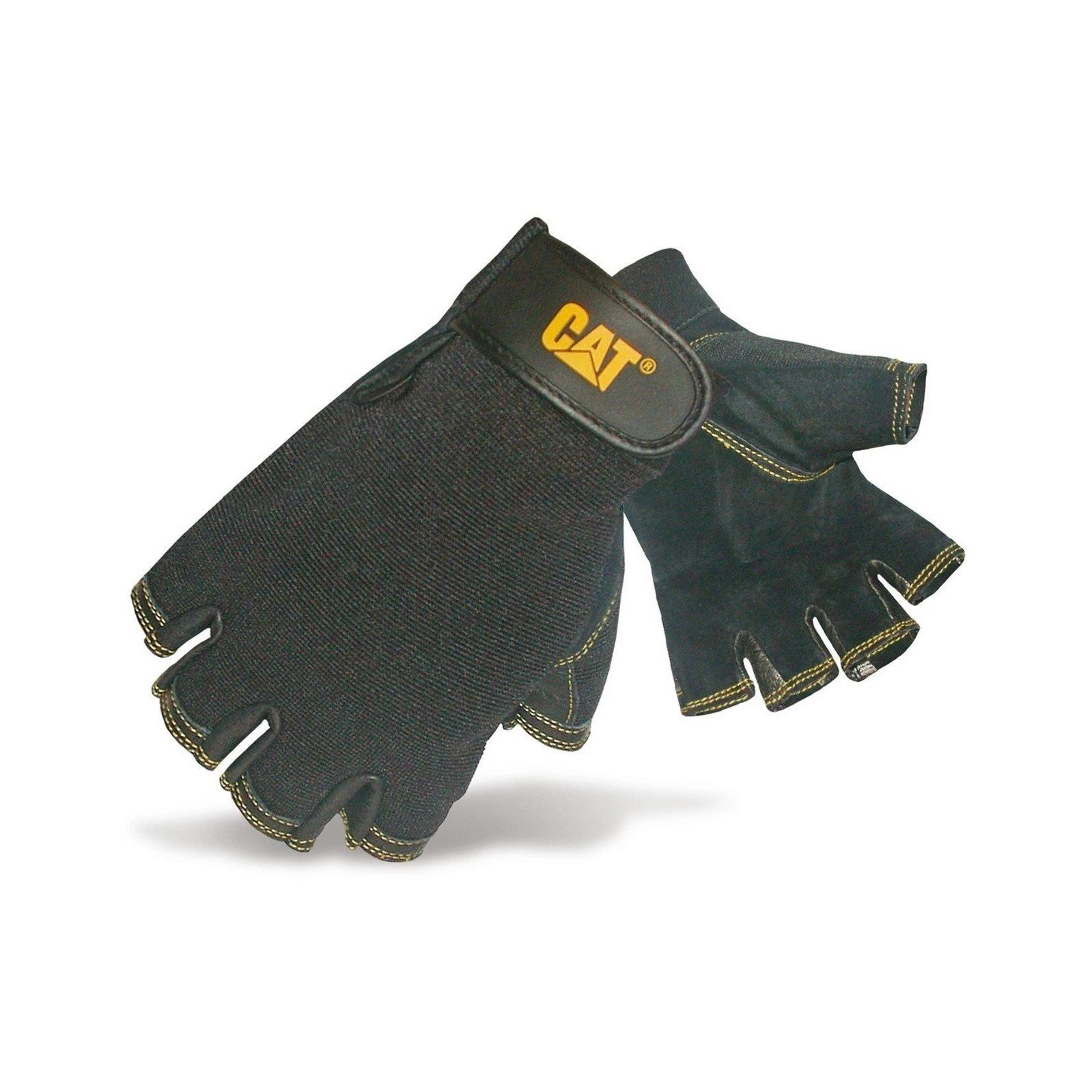 Caterpillar Leather Fingerless Gloves