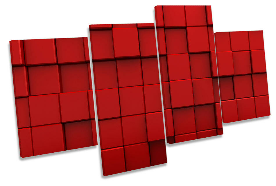 Abstract Blocks Modern MULTI CANVAS WALL ART Framed Panel
