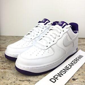 Details about Nike Air Force 1 Low '07 Men's 11.5 Voltage Purple White  Shoes CJ1380-100 New