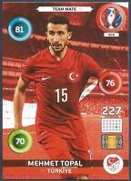PANINI EURO 2016 ADRENALYN XL CARD- #414-TURKIYE-TURKEY-MEHMET TOPAL