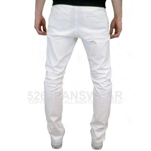 Available in 8 Colours Enzo Mens Designer Branded Slim Fit Stretch Chino Jeans