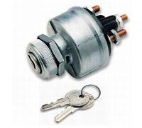 Ignition Switch Heavy Duty 4 Position Keyed Aluminum Bezel Universal Keyed