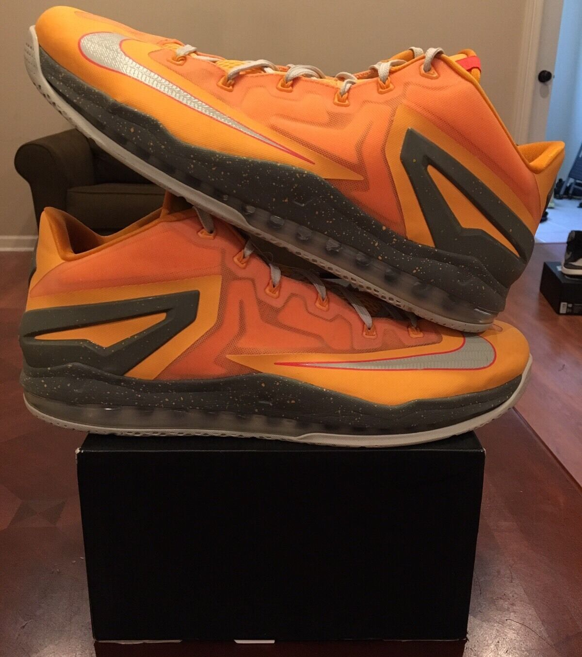 Nike Air Max Lebron 11 Xi Niedrig Mango Floridian Orange Miami 15 Atomic Jordan 14 1