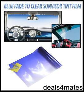 Car Van Sun Visor Windscreen Film Tint Strip BLUE Sunvisor ... 46a1eb91986