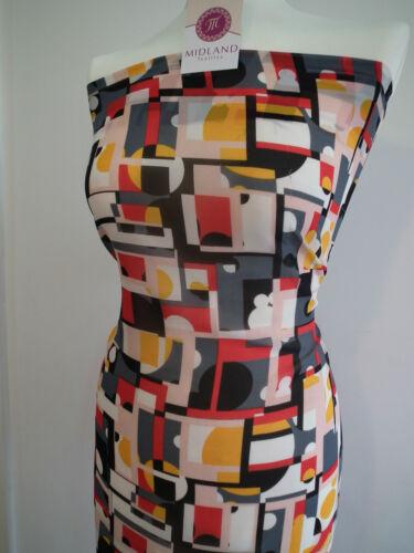 Impresión geométrica Georgette Tela 58 Pulgadas De Ancho Por Metro m145-16 Vestido material mtex
