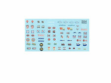 Fender Sponsors DECAL 1/64 scale fits AFX Tyco Lifelike Autoworld