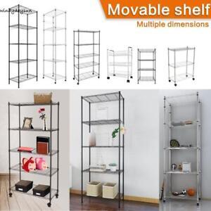 3 4 5 tier storage rack organizer commercial kitchen shelving steel rh ebay com