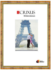 CRIXUS40-Real-Wood-Picture-Frame-Antique-Ochre-Gold-Baroque-Photo-Frame-B-48-453