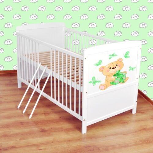 Juniorbett umbaubar 140x70 Weiß nr 21 Babybett  Kinderbett