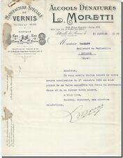 Carta - L- MORETTI Fábrica de Polaco sotteville los postal-rouen 1930