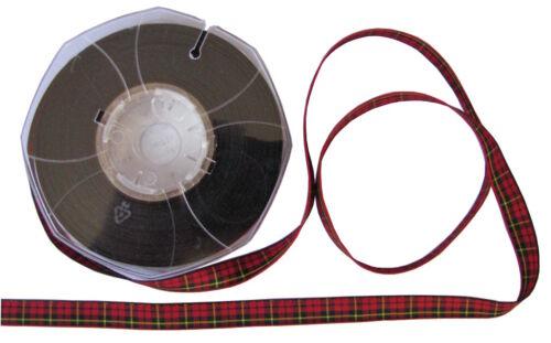 Wallace Tartan Ribbon cut lengths and 20m reels various widths