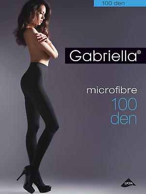 Gabriella Opaque Microfibre Tights Pantyhose 100 Den ladder resist
