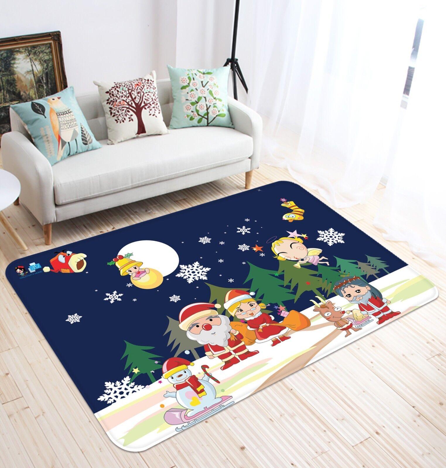 3D Navidad Navidad 444 antideslizante alfombra habitación mat calidad elegante alfombra