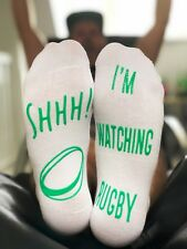 Rugby Lounge Socks - Funny Comfy Gift for Rugby Fans