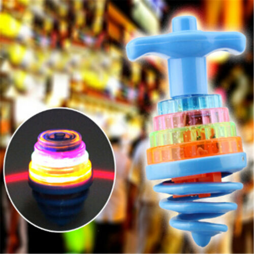 Colourful Light /& Music Spring Gyro Peg-Top Spinning Tops Kids Children Toy  FC