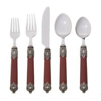 Hampton Forge San Remo Flatware Set 20-piece. - Red