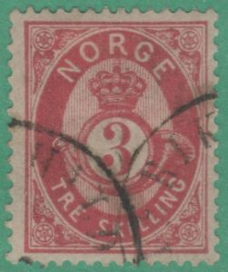 Norway-18-Very-FINE-Interesting-Cancel-1872-Great-Stamp