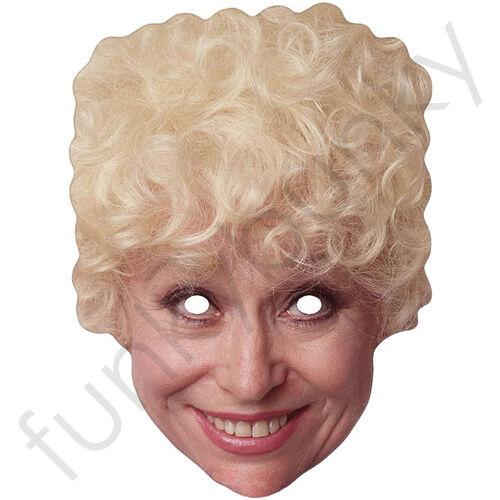 Barbara Windsor Célébrité Carte Masque-Rétro 1980 S 80 S tous nos masques sont pré-découpées