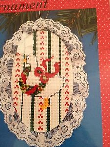 Designs-for-the-Needle-Lace-Ornament-Cross-Stitch-Kit-Christmas-Goose-1208