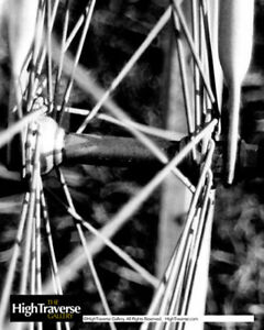 Bicycle Wheel Cycling Abstract-B&W Fine Art Photo-8x10-COA-SIGNED!