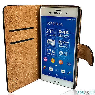 Book Case für Sony Schutzhülle Cover Etui Handyhülle Wallet Case Hülle Tasche