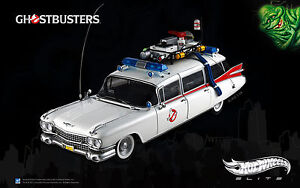 01:18 Hot Wheels Elite Modèle De Film Ghostbusters Ecto-1 Cadillac Rare