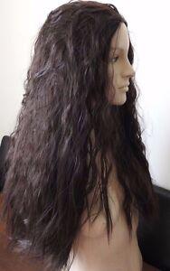 very dark brown wavy curly frizzy puffy 34 half head long hair wig fancydress - Slough, United Kingdom - very dark brown wavy curly frizzy puffy 34 half head long hair wig fancydress - Slough, United Kingdom